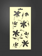 stencil flores 1002