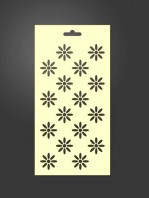 stencil flores 1003