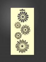 stencil flores 1004