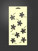 stencil flores 1006