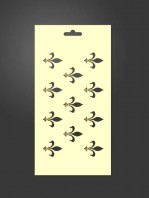 stencil flor de lis 1009
