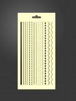 stencil cenefas geometricas 1013