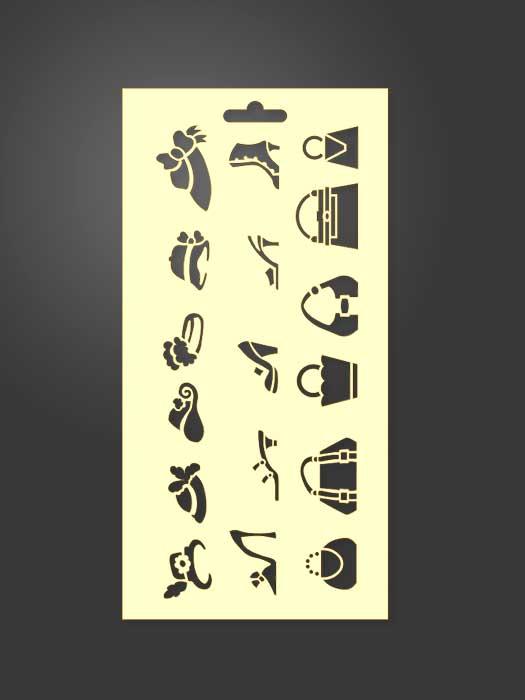 stencil moda 1015