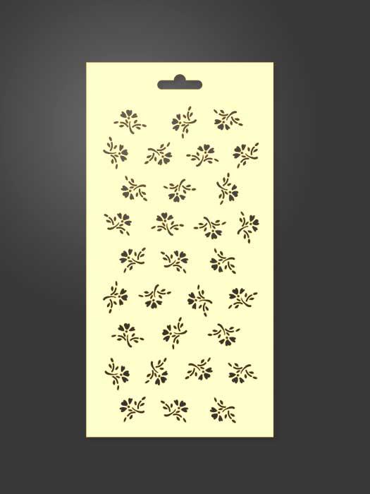 stencil flores 1024