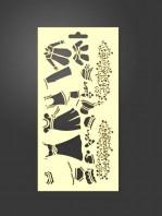stencil moda 1025