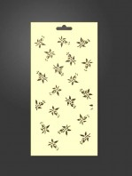 stencil flores 1027