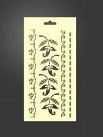 stencil cenefas flores 1028