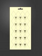 stencil rombos flor de lis 1039