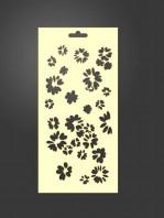 stencil flores 1049