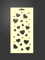 stencil corazones 1050