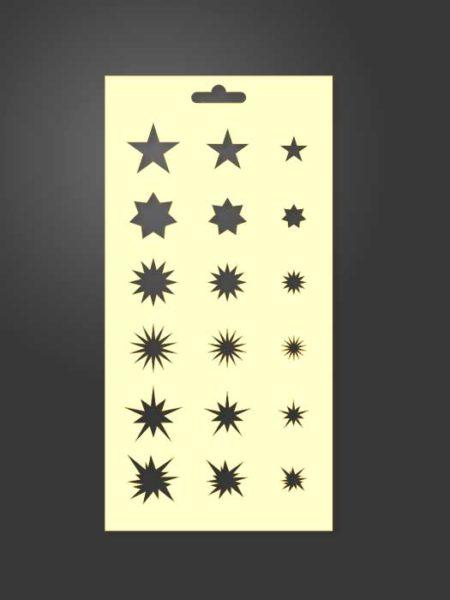 stencil estrellas 1053