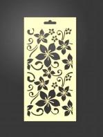 stencil flores 1056