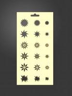 stencil estrellas 1064
