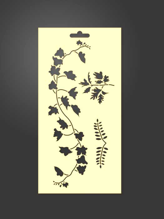stencil vegetación hojas 1067