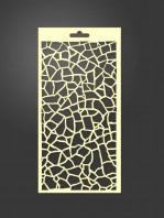 stencil fondo cuarteado 1068
