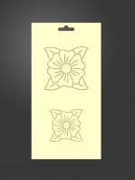 stencil flores 1077