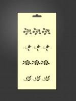 silueta cenefas flores 1079