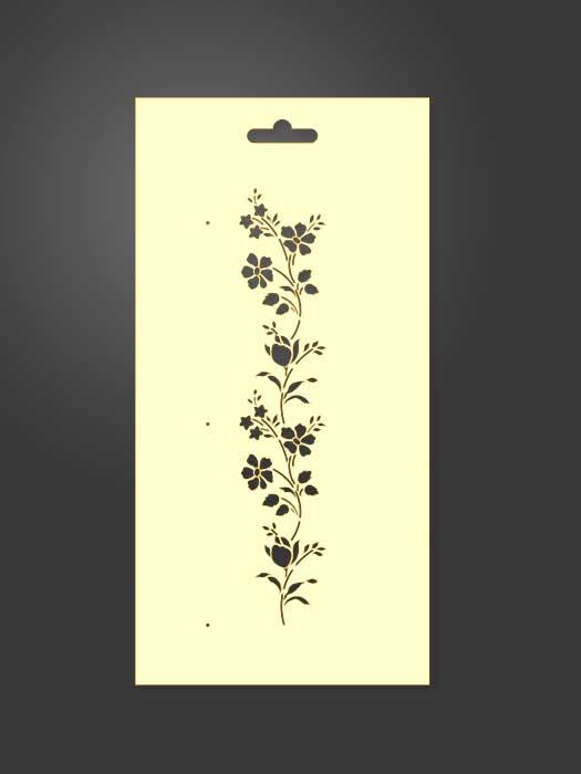 stencil flores 1082