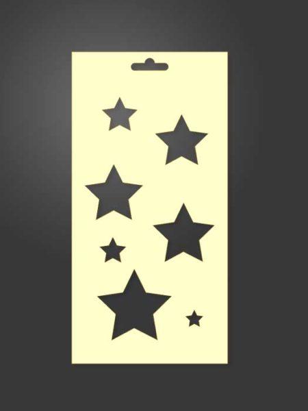 stencil estrellas 1098