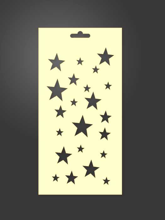 stencil de estrellas