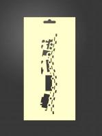 stencil tren infantil 1109