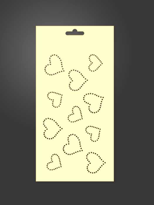 stencil corazones 1124