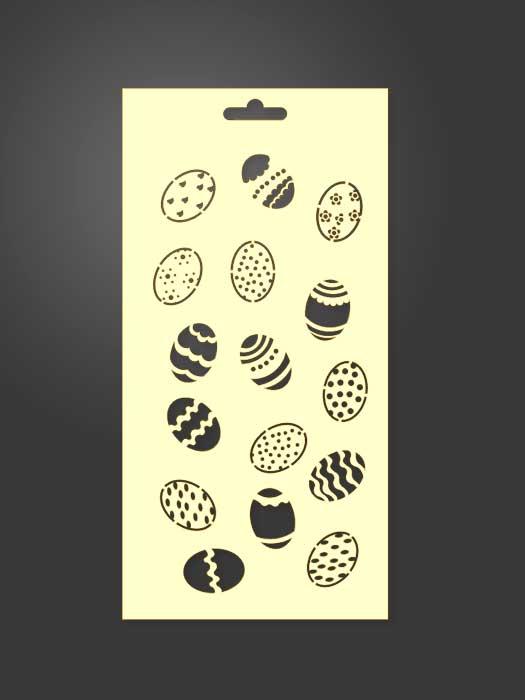 stencil huevos pintados 1125