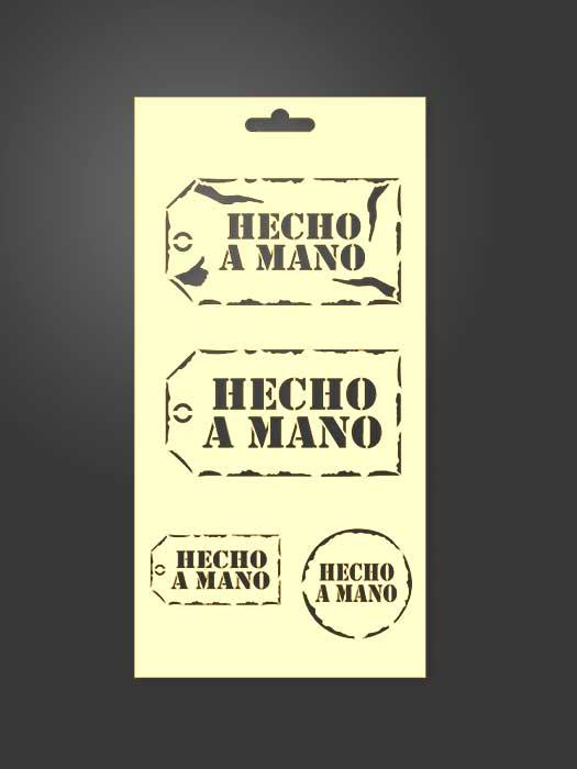 stencil etiquetas hecho a mano 1130
