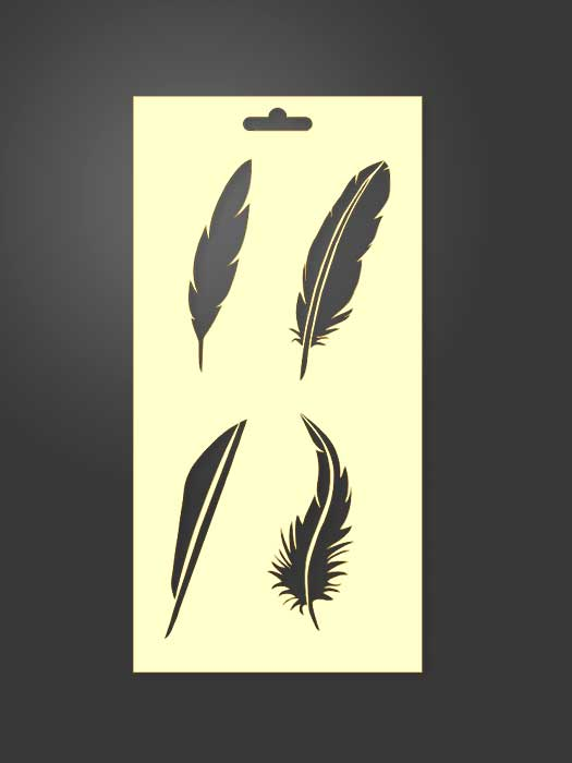 stencil plumas 1131