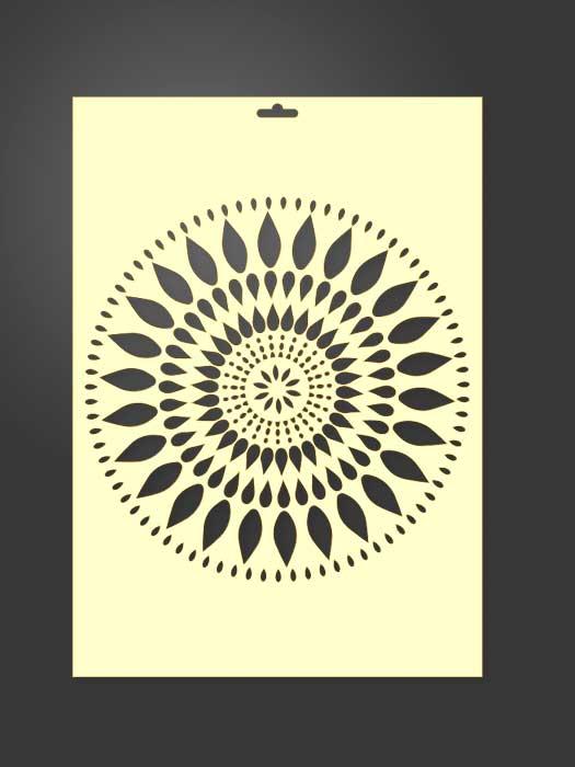 stencil circulo hojas 2023