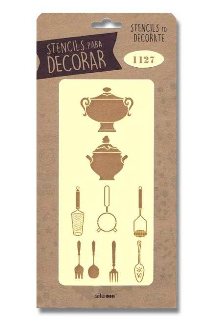 Stencil útiles cocina 1127