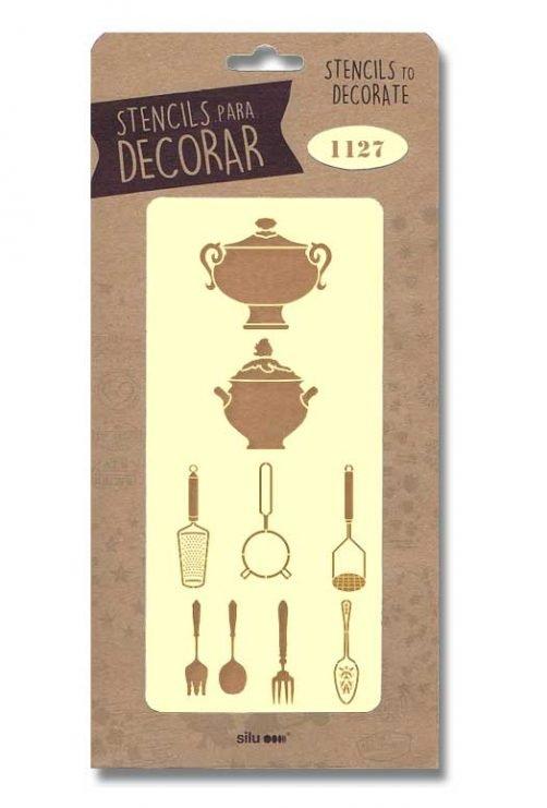 stencil articulos cocina silu 1127