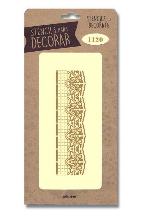 stencil cenefa silu 1120