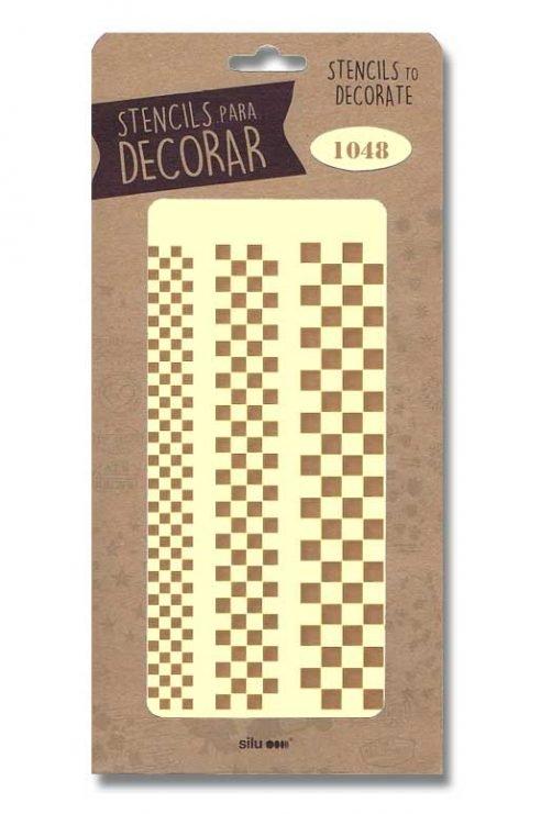 stencil cenefas cuadrados grandes silu 1048