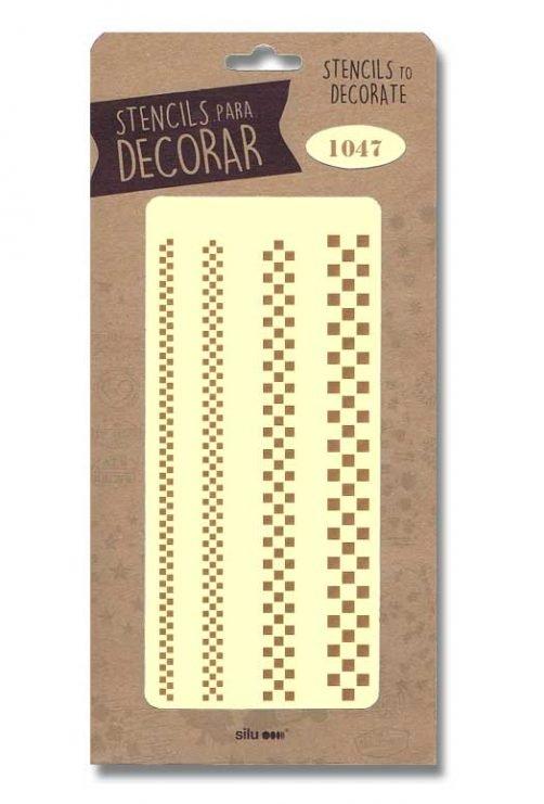 stencil cenefas cuadros silu 1047