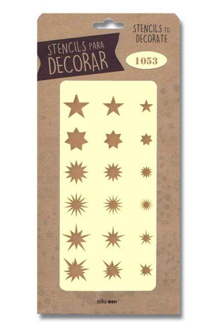Stencil de estrellas 1053