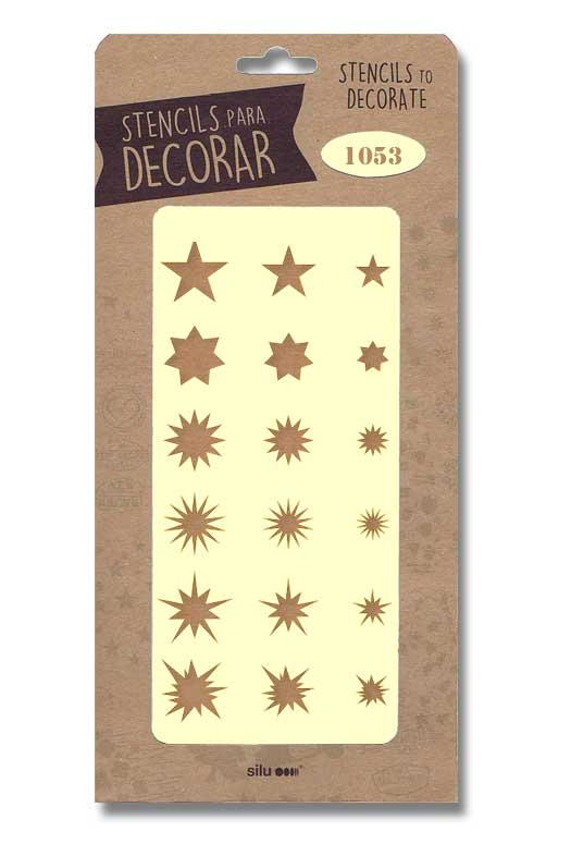 stencil estrellas silu 1053