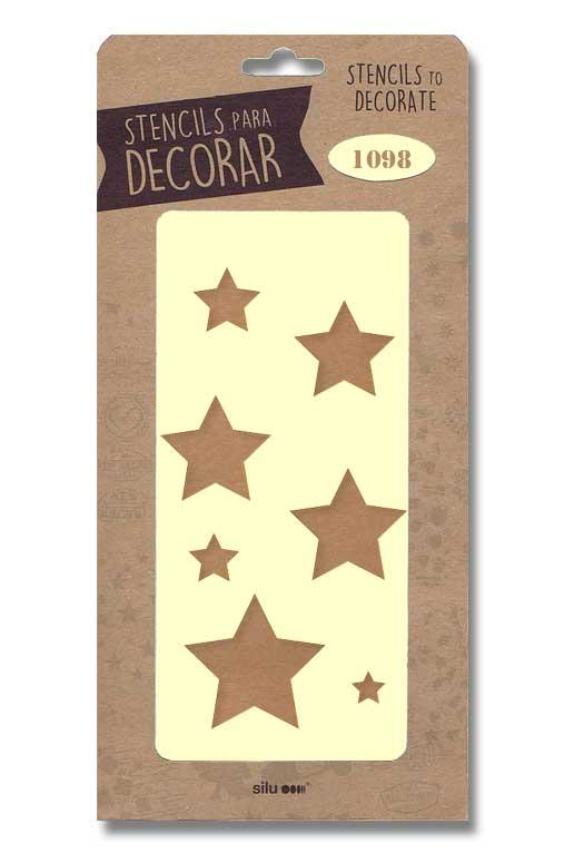 stencil estrellas silu 1098
