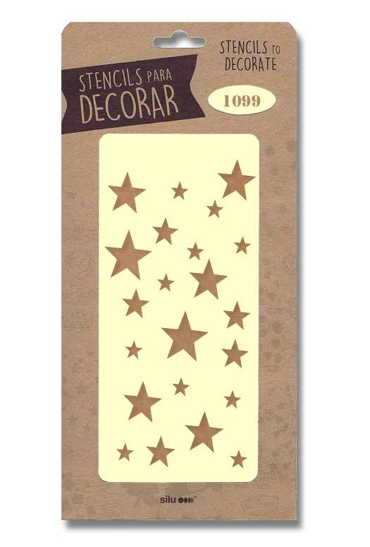 stencil estrellas silu 1099