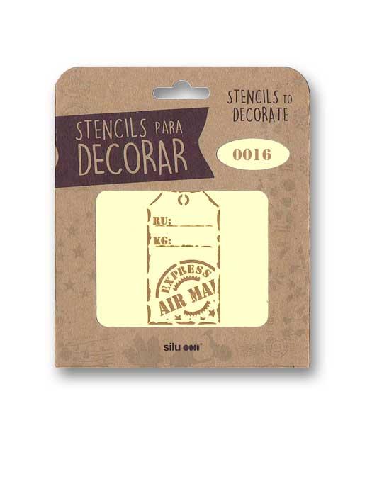stencil etiqueta express air silu