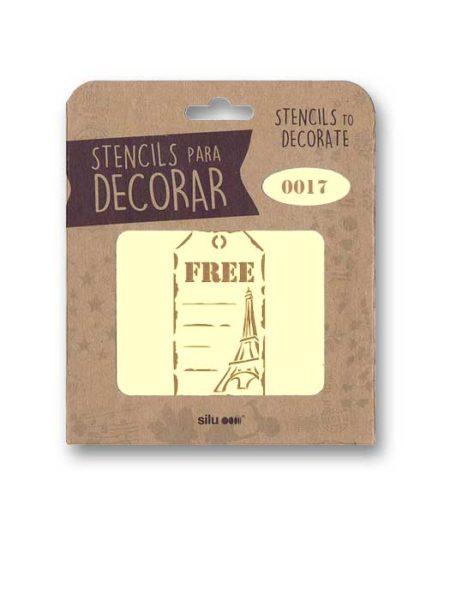 Stencil etiqueta Free Paris 0017