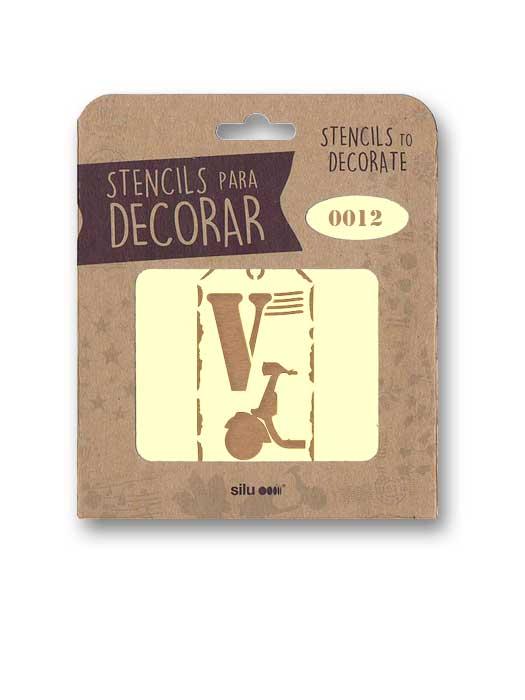 stencil etiqueta vespa silu