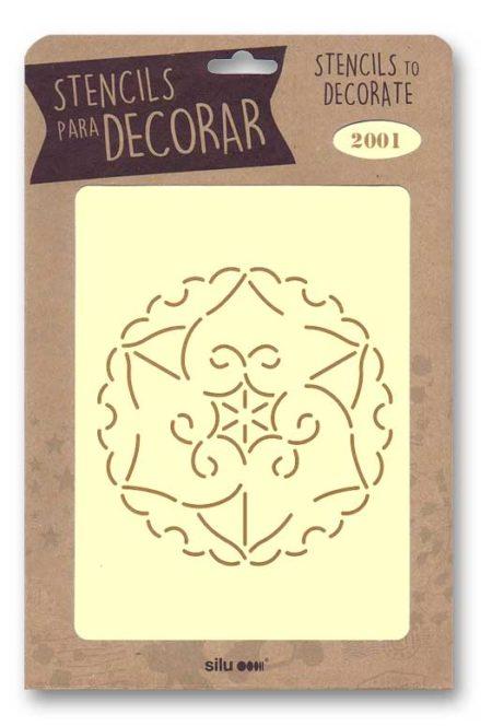 Stencil flor 2001