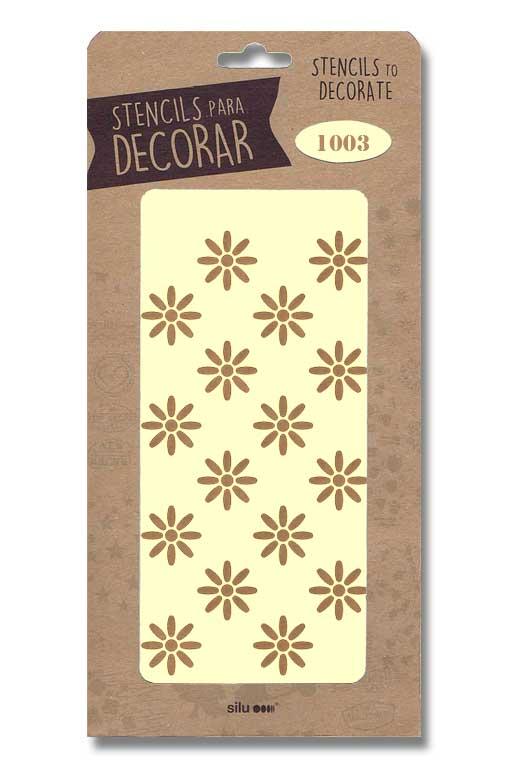 stencil flores silu 1003