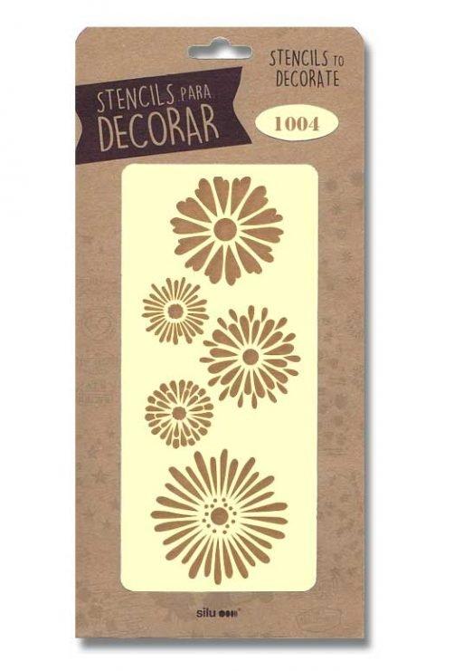 stencil flores silu 1004