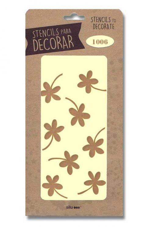 stencil flores silu 1006