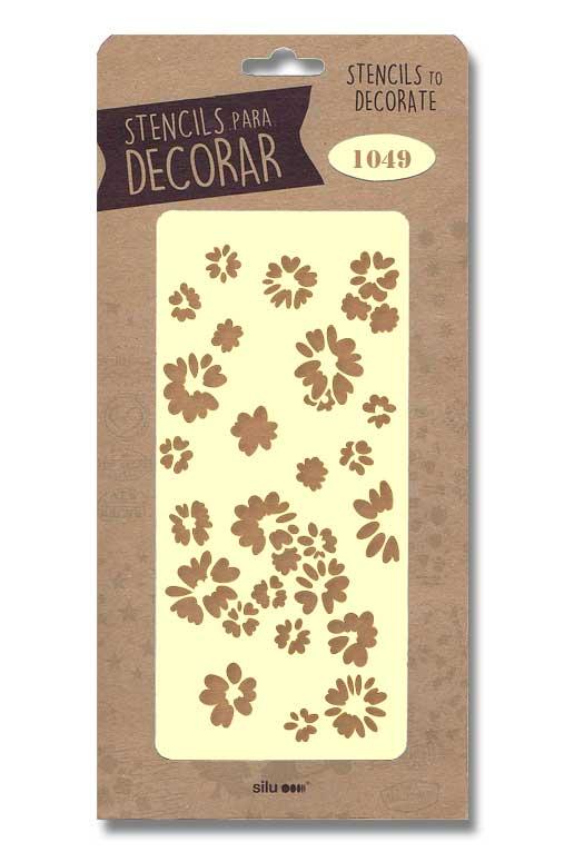 stencil flores silu 1049