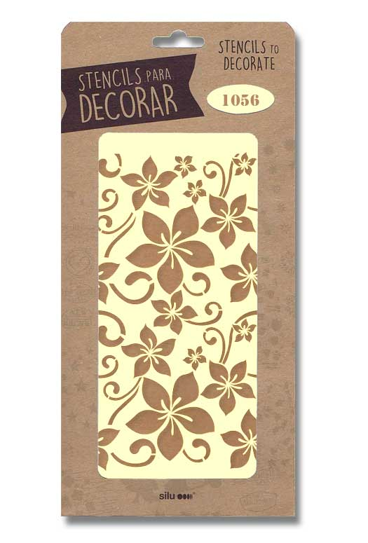 stencil flores silu 1056