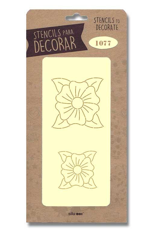 stencil flores silu 1077
