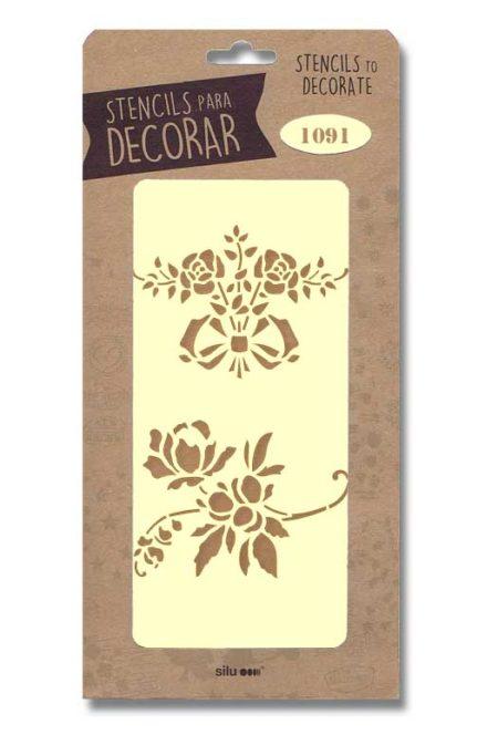Stencil flores 1091
